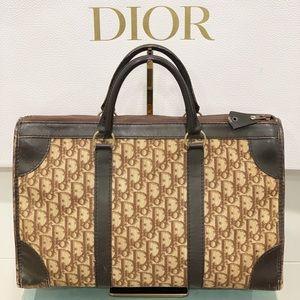 Christian Dior Trotter Monogram Bag Canvas Leather